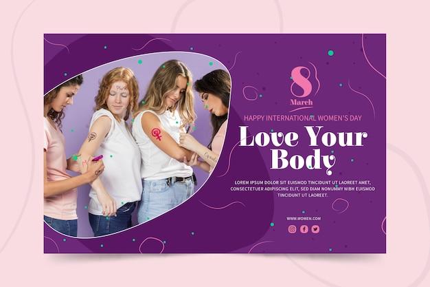 Modello di banner per la giornata internazionale della donna