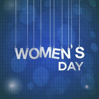국제 여성의 날, 파란색 배경