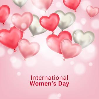 국제 여성의 날 인사말 카드 디자인