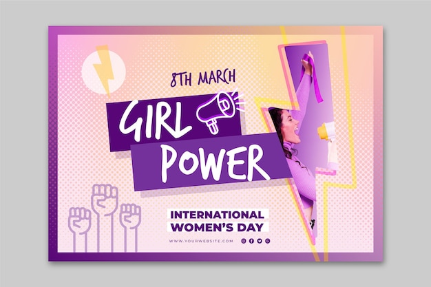 International women's day horizontal banner