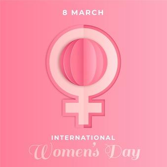 紙のスタイルで国際女性の日