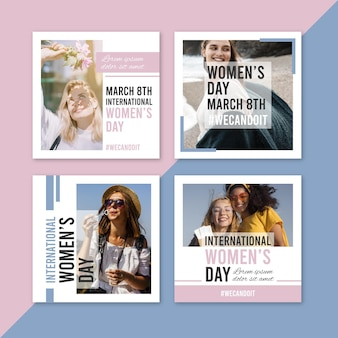 International women's day instagram posts collection
