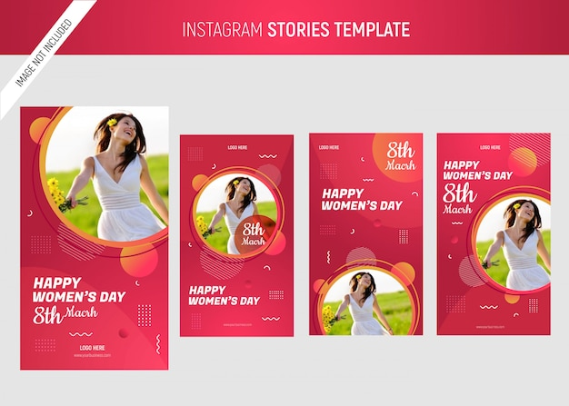 International women's day instagram template