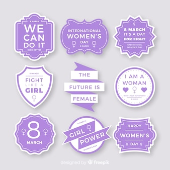 International women's day label collection
