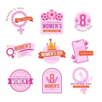Коллекция этикеток к международному женскому дню