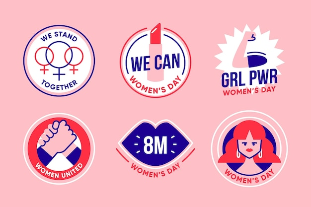 International women's day label pack