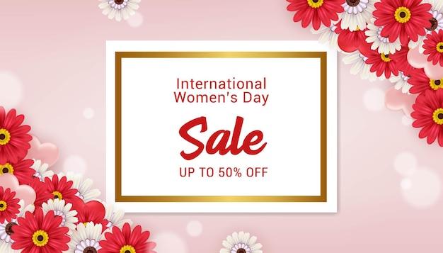 국제 여성의 날 판매 배너 템플릿