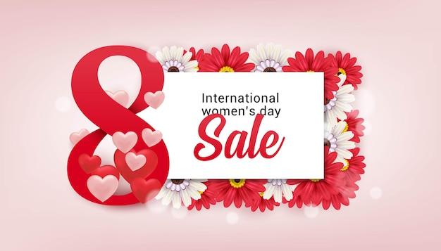 Международный женский день распродажа баннер шаблон