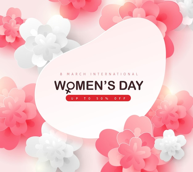 국제 여성의 날 판매 배너 템플릿입니다.