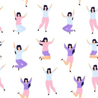 International women's day seamless pattern illustration