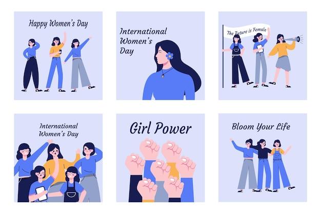 国際女性の日のベクトル図