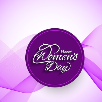 International women's day, wavy purple background