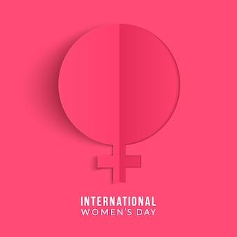 세계 여성의 날 . 여자 기호입니다. 종이 접기 디자인 템플릿.