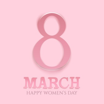 International womens day background. greeting card template.