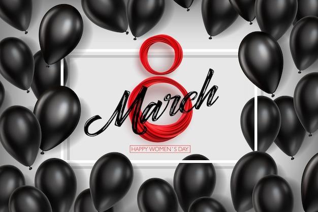 국제 여성의 날 3 월 8 일 일러스트레이션