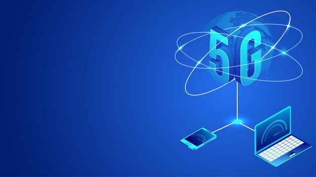International worldwide 5g data internet network service concept.