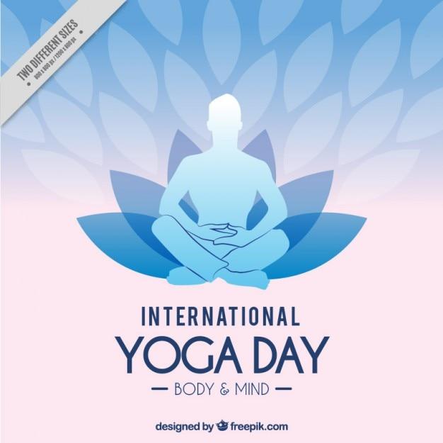 International yoga day background