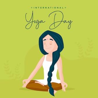 International yoga day banner design