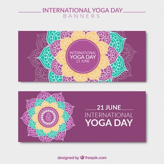 International yoga day banners