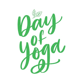 International yoga day lettering