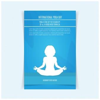 Vector yoga illustrazione yoga day poster design