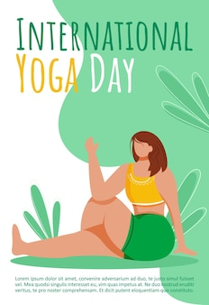 International yoga day template. active and healthy lifestyle.
