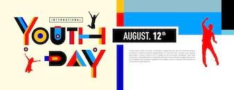 International youth day banner celebration