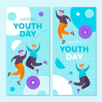 International youth day banners set