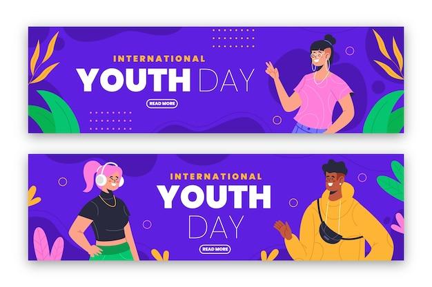 Набор баннеров международного дня молодежи
