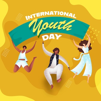International youth day concept