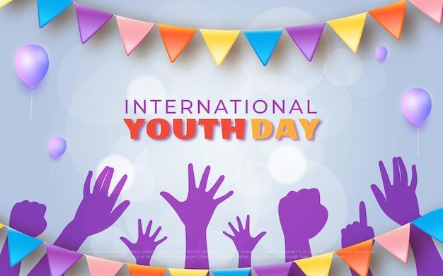 国際青少年デーのコンセプト