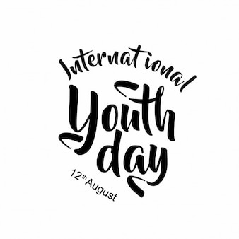 International youth day calligrafia