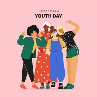 国際青少年デーのイラスト