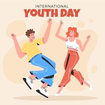 Иллюстрация международного дня молодежи