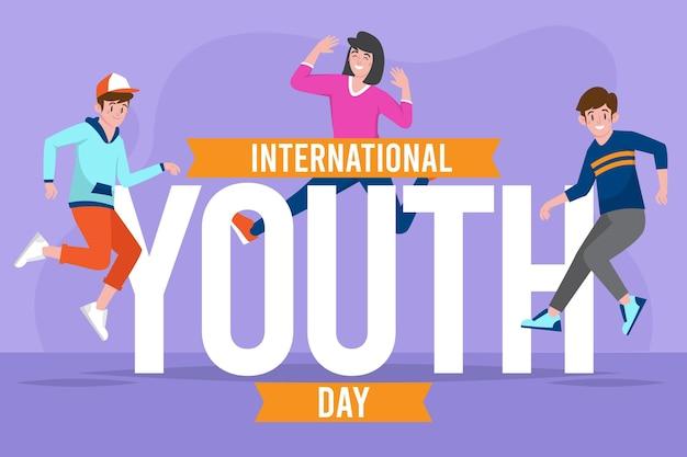 International youth day illustration