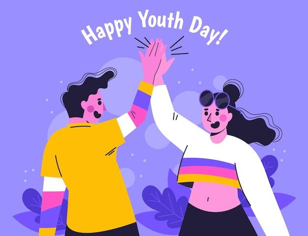 국제 청소년의 날 일러스트레이션