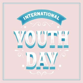 International youth day lettering