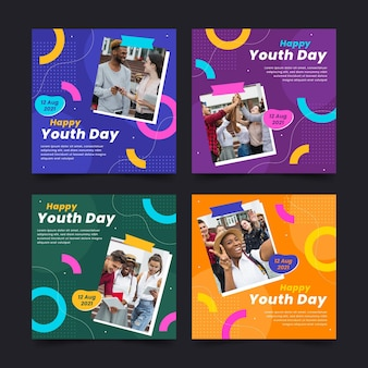 International youth day post collection with photo