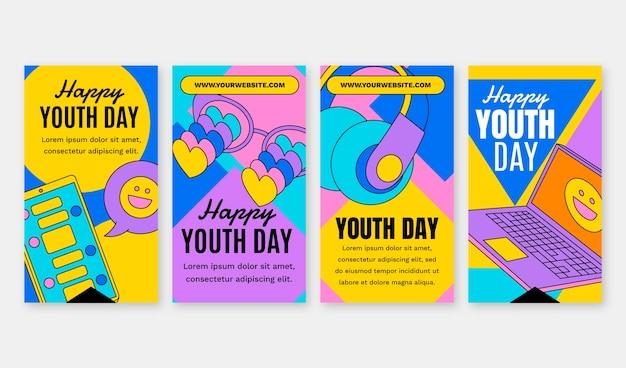 Raccolta di storie della giornata internazionale della gioventù