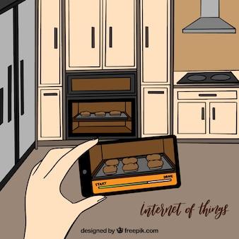 Internet sfondo delle cose in cucina