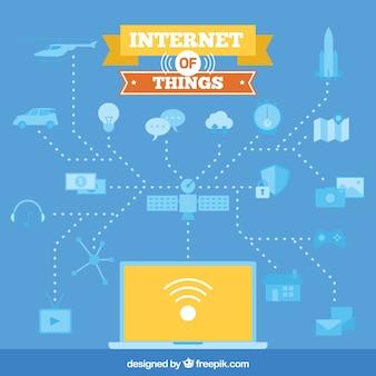 컴퓨터 및 기타 요소와 인터넷 배경