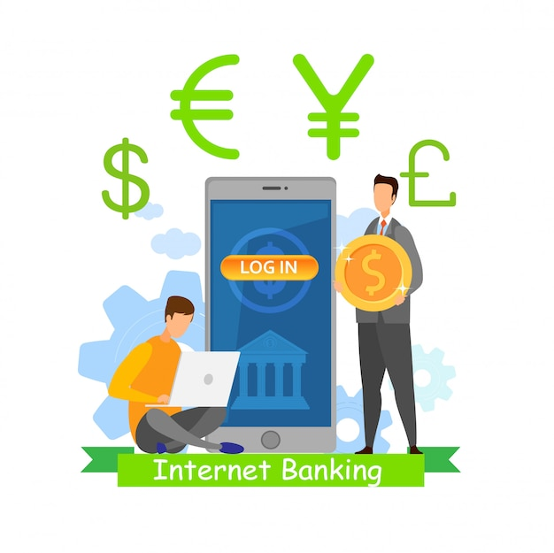 Internet banking app flat