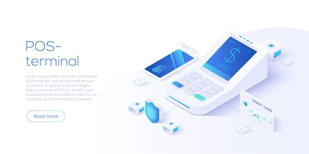 Internet banking concept in isometric.