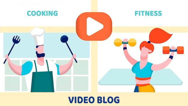 Internet blog choice flat vector illustration