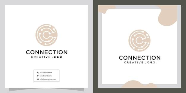Дизайн логотипа технологии подключения к интернету