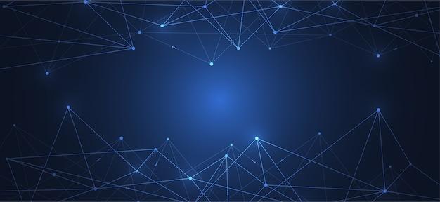인터넷 연결, 과학 및 기술 배경의 추상적 인 감각