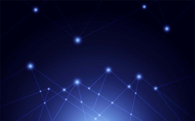 インターネット接続、科学と技術の抽象的なグラフィックデザイン。