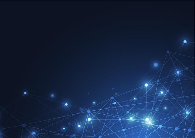 インターネット接続、科学技術のグラフィックデザインの抽象的な感覚。