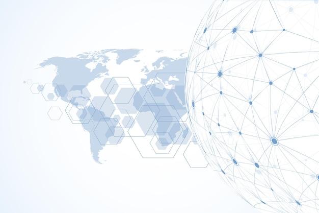 Фон подключения к интернету, абстрактное чувство науки и техники графического дизайна. подключение к глобальной сети