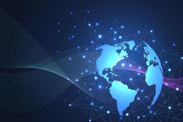 Internet connection background illustration